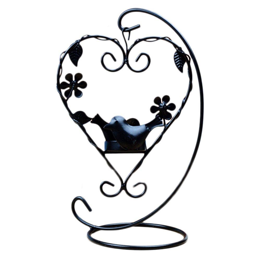 Outflower européenne rétro Creative Bougeoir Bird Amour fer Bougeoir balcon Chambre à coucher Décoration Bougeoir