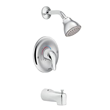 moen l2353 chateau tub and shower faucet set with moenu0027s positemp shower valve chrome - Moen Shower Handle