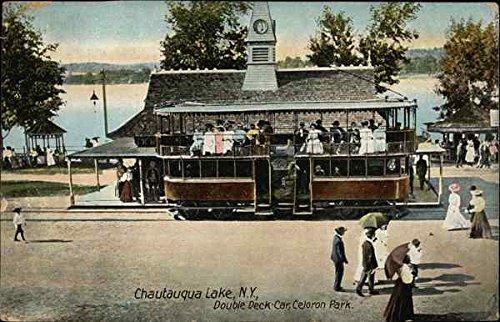 Double-Deck Car, Celoron Park Chautauqua Lake, New York Original Vintage Postcard ()