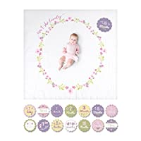 lulujo Baby Baby's First Year Milestone Blanket and Cards Set, Isn't She Love...