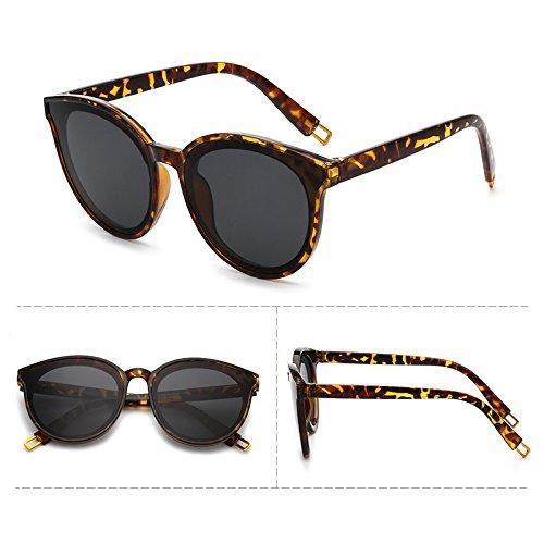 lunettes de soleil les pop stars lunettes nouveau cycle des lunettes de soleil les hommes coréens élégant visage rond les yeuxLeopard (cloth) h6uSn