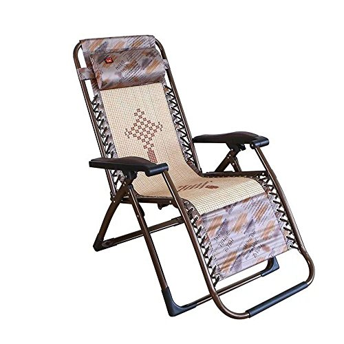 HOMEE Single folding bed folding chair balcony loungers office beach chair pregnant women chair home afternoon picnic (color optional),B by HOMEE