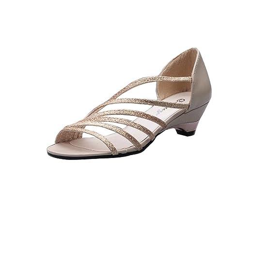 c7844112091 Amazon.com  Baiggooswt Women Ladies Square Heels Slippers