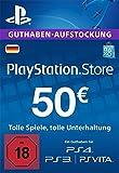PlayStation Store Guthaben-Aufstockung | 50 EUR | PS4, PS3, PS Vita PSN Download Code - deutsches Konto