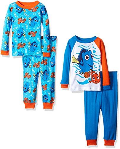Disney Boys Finding Dory 4-Piece Cotton Pajama Set