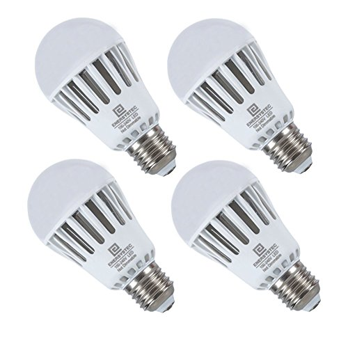 Dusk to Dawn LED Light Bulbs with Photocell, 4200K Day-White 7 Watt Smart Sensor Porch Lights, A19 E26 Edison Base, Automatic Security Light for Indoor/Outdoor Lighting, 4 Pack (Est Lighting Outdoor)