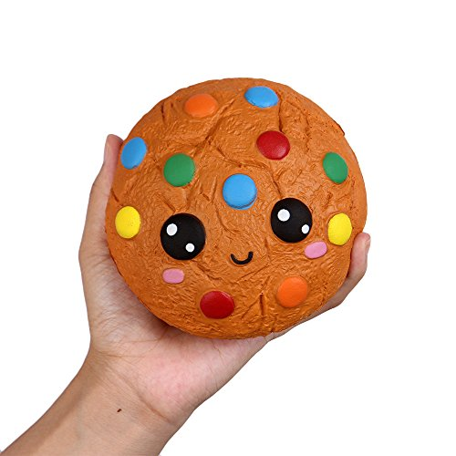 Anboor 4.3 Inches Squishies Cookies Chocolate Kawaii Soft Slow Rising Scented Food Squishies Stress Relief Kid Toys Gift Collection