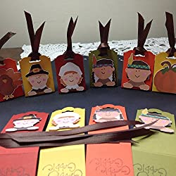 Thanksgiving Hershey Nugget Treat Holder Party Favors (pilgrims, Indians, turkeys, pumpkins)