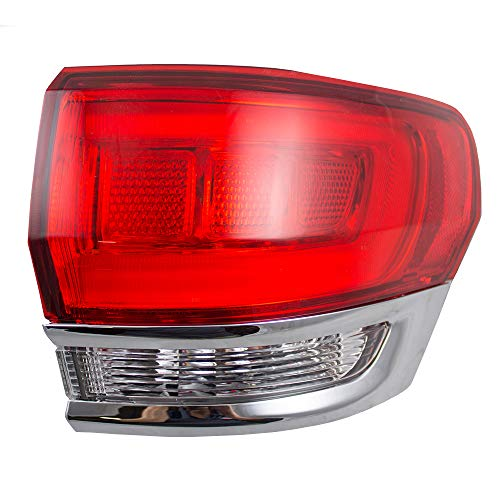 Passengers Taillight Tail Lamp Quarter Panel Mounted w/Chrome 14-18 Jeep Grand Cherokee 68110016AF CH2805106 166-02613R