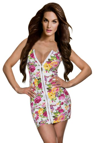 Amour- New Sexy Zipper Front Tank Clubbing Dress Party Ball Cocktail Clubwear