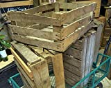 4 x WOOD WEDDING DECORATIONS - Super Rustic Used Apple Crates Trays/Aged Look Wooden Boxes - FREE Next Day Delivery - Trusted UK Seller
