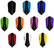 10 x Sets Harrows Retina X Mixed Colour Dart Flights Slim