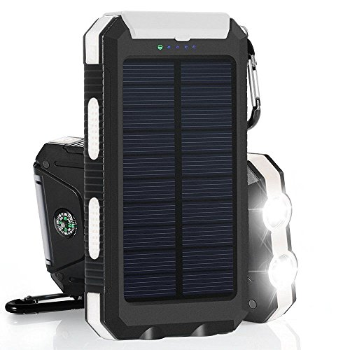 Waterproof 30000mAh twin USB handheld Solar Battery Charger Solar vitality Bank Solar Chargers