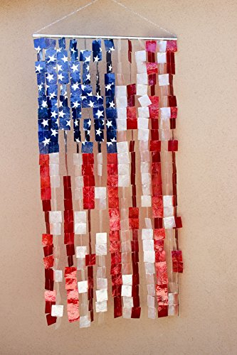Capiz Shell Curtain - Capiz Shell US Flag