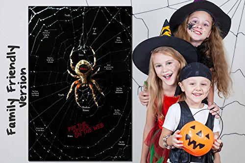 fun halloween party game pin the spider on the web 2 halloween games in 1 a family