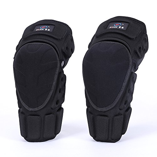 1 Pair Moto Knee Pads Black Protective Motorcycle Kneepad Motorcycle Motocross Bike Bicycle Pads Knee Pads Protective Guards (M)