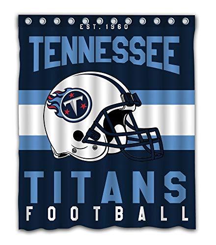 yu bo Custom Tennessee Titans Fabric Shower Curtain for Bathroom Decoration (60x72 Inches)