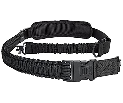 550 Paracord Rifle Sling 2 Point Gun Strap Quick Adjust Shotgun Crossbow Sling with Shoulder Pad - Cross Strap Bow