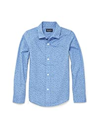 The Children's Place Baby Boys Uniform Printed Long Sleeve Oxford Shirt