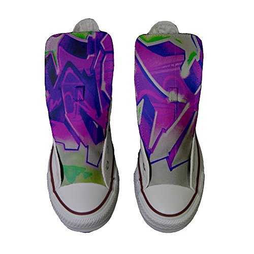 produit viola Graffiti Converse artisanal chaussures Adulte Customized avec sfumati coutume zwq1pAIxcq