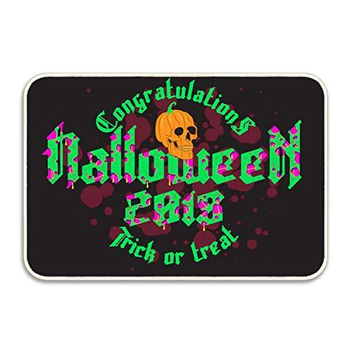 Ranhkdn The Custom Non-Slip Doormat Happy Halloween Party Entrance Rug Floor Mat Door Mat Rug Indoor/Outdoor/Front Door/Bedroom Mats -