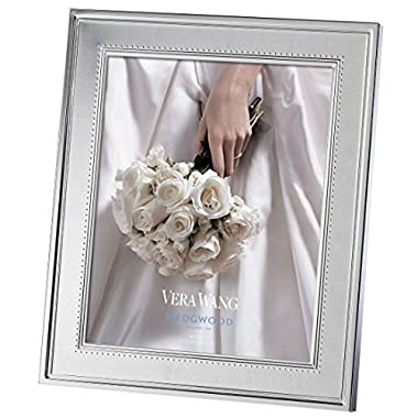 Vera Wang Wedgwood Grosgrain Silver Picture Frame 5 X 7