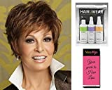 Sparkle Wig Color R56/60 - Raquel Welch Women's Wigs Short Textured Layers Face Framing Tapered Neck Memory Cap Bundle with Travel Kit, MaxWigs Hair Loss Booklet