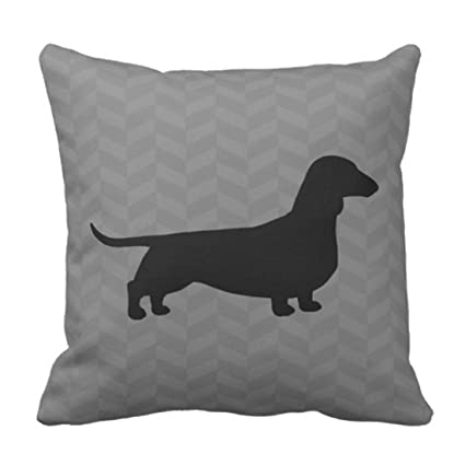 Amazon.com: Emvency Throw Pillow Cover Dachshund Silhouette ...