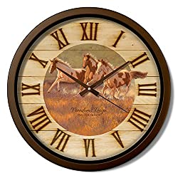 Reflective Art 15 'Freedom's Reign Classic Clock