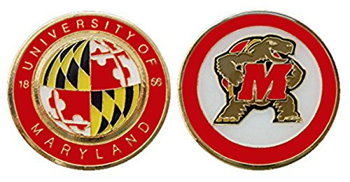 (University of Maryland Collectible Challenge Coin - Logo Poker - Lucky Chip)
