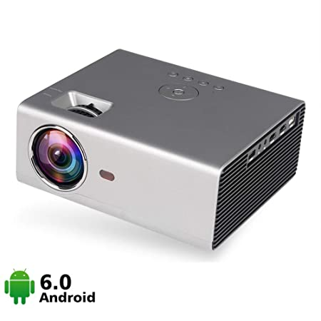 QinLL Proyector, Inteligente Android WiFi Bluetooth vídeo ...