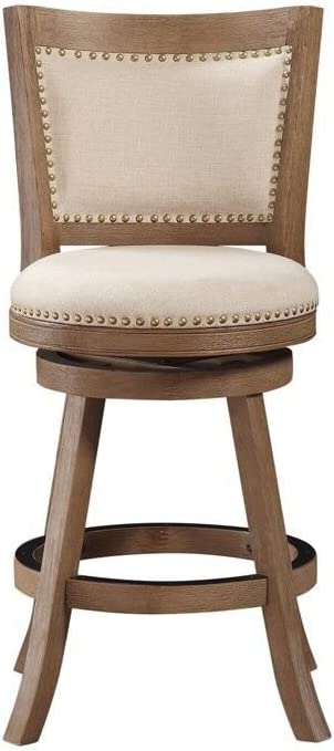 Boraam Melrose Counter Stool 24 Inch 1 Pack Driftwood Wire Brush And Ivory Furniture Decor