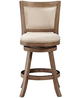 amazon com boraam 43724 florence counter height swivel stool 24