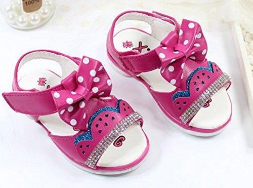 Ohmais Kinder Mädchen flach Freizeit Sandalen Sandaletten Kleinkinder Mädchen Halbschuhe Sandalette Ballerinas Rose