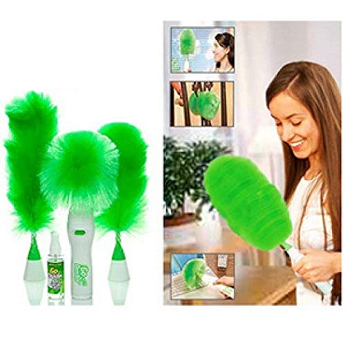 DIP Hand-Held Grabbing and Holding Electric Feather Spin Duster – Electronics and Blinds Brush Set for Home, Car, Furniture ( Medium, Multicolour) Price & Reviews