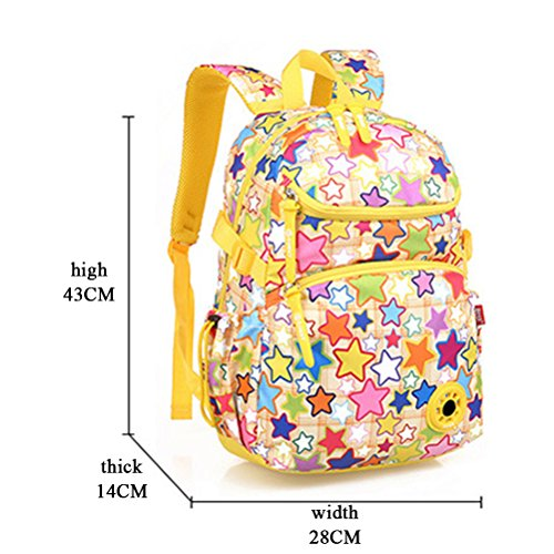 Sports Multiple Camping Portable Pockets Children Ultralight for Rucksack Bag Zhuhaitf Kids School Pink Travel Nylon Bags Lovely S0ApAwq