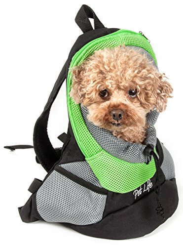 On-The-Go Supreme Travel Bark-Pack Backpack Pet Carrier, Green, One Size