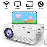 [WiFi Projector] POYANK 2000Lumens LED Mini Projector, WiFi Directly Connect with iPhone X,8,7,6,5/iPad/Mac/Google/Samsung,Huawei,Xiaomi & Android Device (1080p Supported)