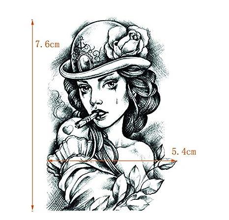 ruofengpuzi Etiqueta 4Pcs Belleza Tatuaje Impermeable Etiqueta ...