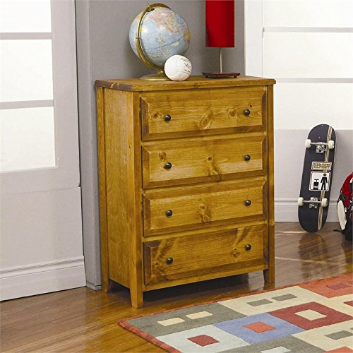 Coaster Home Furnishings Wrangle Hill 4-Drawer Chest Amber Wash