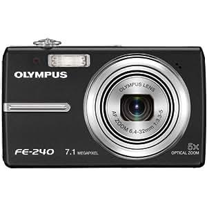 Olympus Stylus FE-240 7.1MP Digital Camera with Dual Image Stabilized 5x Optical Zoom (Black)