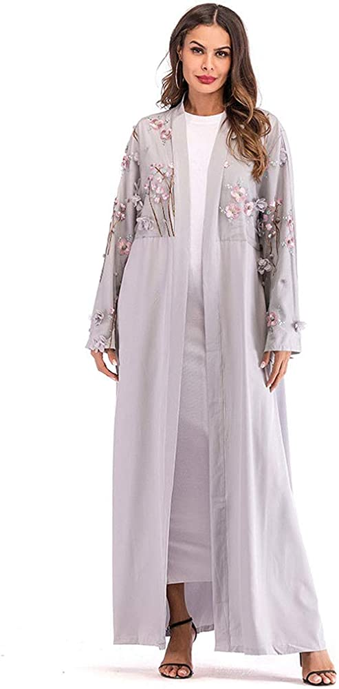 Sallydream Mujer Musulmán Ethnic Robes Abaya Islamic Musulmana ...