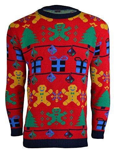 Maille De Noroze Femmes Man Gingerbread En Noël Unisexe Hommes Rouge Pull 4Pqw1xS0P