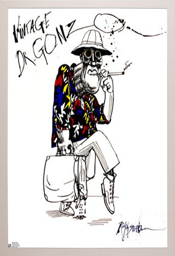 Amazon.com: Ralph Steadman-Dr Gonzo Poster in a White Plastic Frame ...