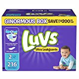 Health & Personal Care : Branded Luvs Ultra Leakguards Size 2 Diapers, 216 ct. (diapers - Wholesale Price (Bulk Qty at Whoesale Price, Genuine & Soft Baby diaper)