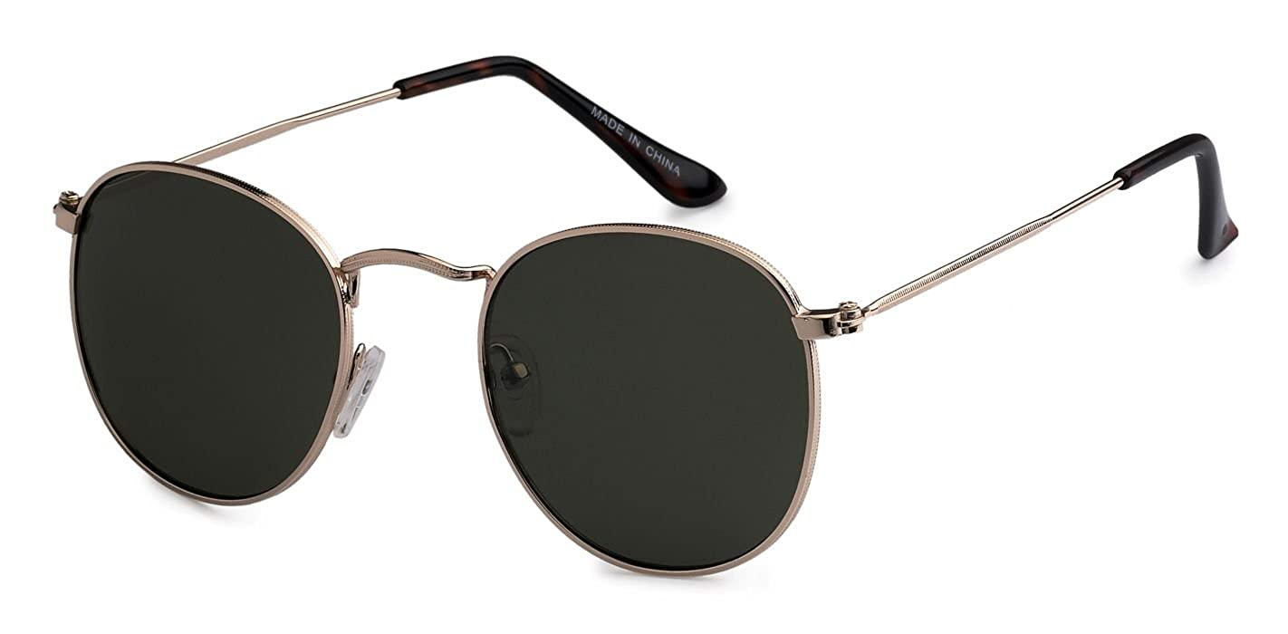 aa3cf83c8e Amazon.com  Eason Eyewear Quality Men s Women s Vintage Inspired Metal Round  Sunglasses Mirrored lens Gradient lens Gold G15  Shoes