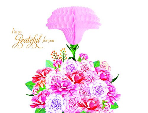 YURICOM Handmade Honeycomb Pop Up Greeting Card (Pack of 1, Sweet Olivia)