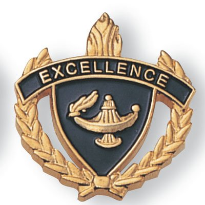 EXCELLENCE ENAMELED LAPEL PIN - PACK OF 10