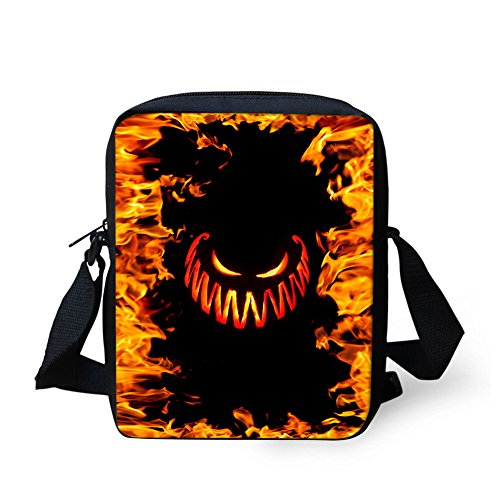 Bigcardesigns Halloween Cross Messenger 5 Closer Pattern body Gifts Designs Bag Zipper Kids Small Sling for Handbag Purse ggYrS4x