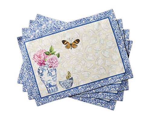 Maison d' Hermine Canton 100% Cotton Set of 4 Placemats 13 Inch by 19 Inch